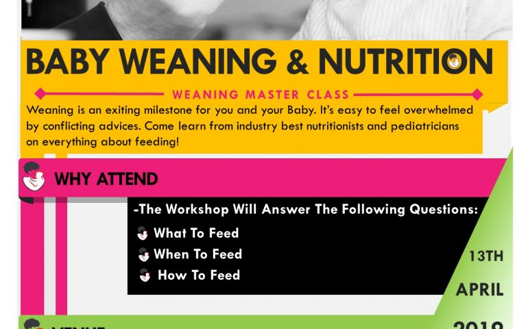 Weaning Workshop Poster-13th April 2019